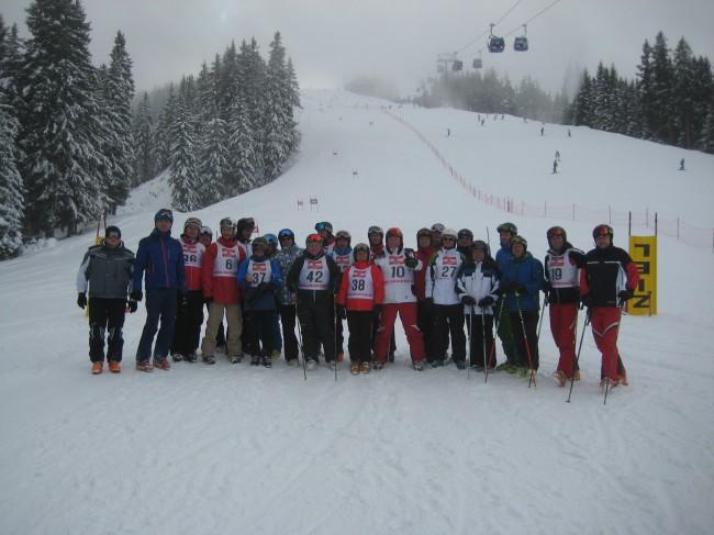 Die VÖEH Gruppe beim Riesentorlauf am Asitz im Schicircus Saalbach/Hinterglemm/Leogang.
