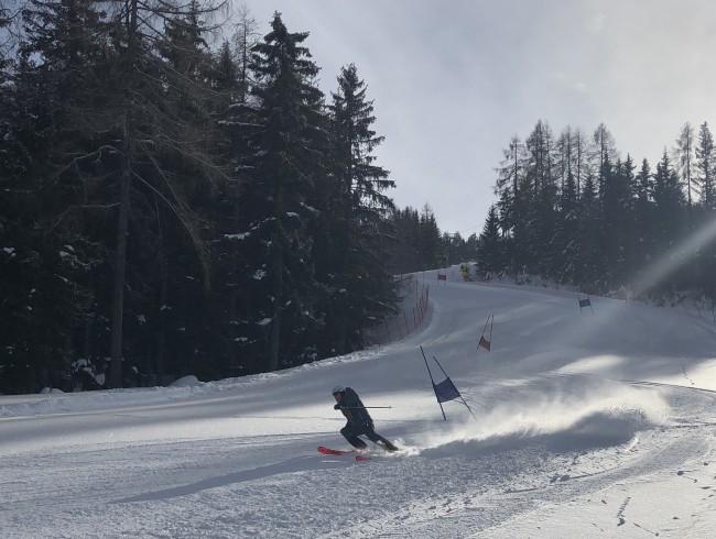 Eine Disziplin der Winterchallenge war der Riesentorlauf.